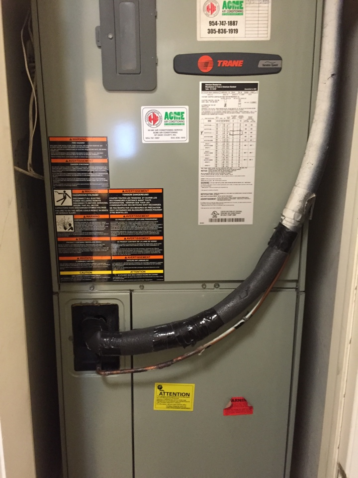 Pinecrest, FL - No cool on a Trane