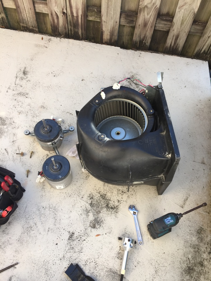 Cutler Bay, FL - AC blower motor replacement in a Trane air handler