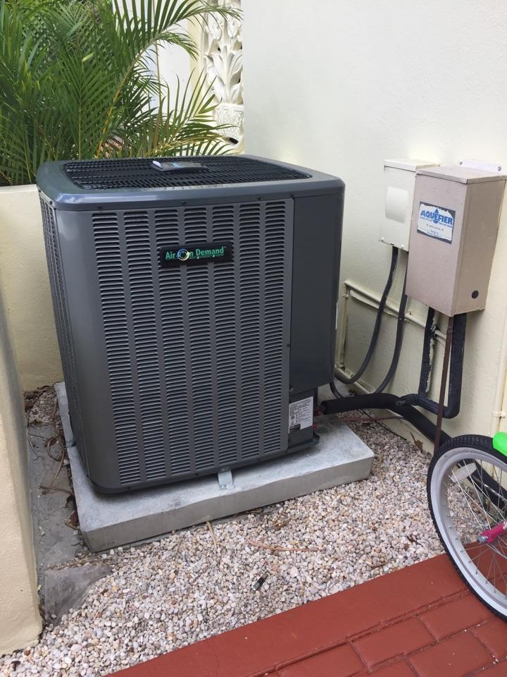 Coral Gables, FL - AC tuneup on an Sir On Demand 3ton system