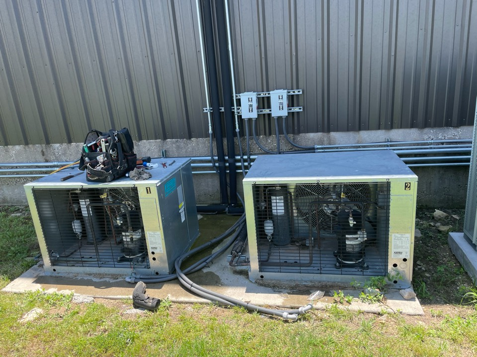 Pflugerville, TX - Removing refrigeration units to move to new location
