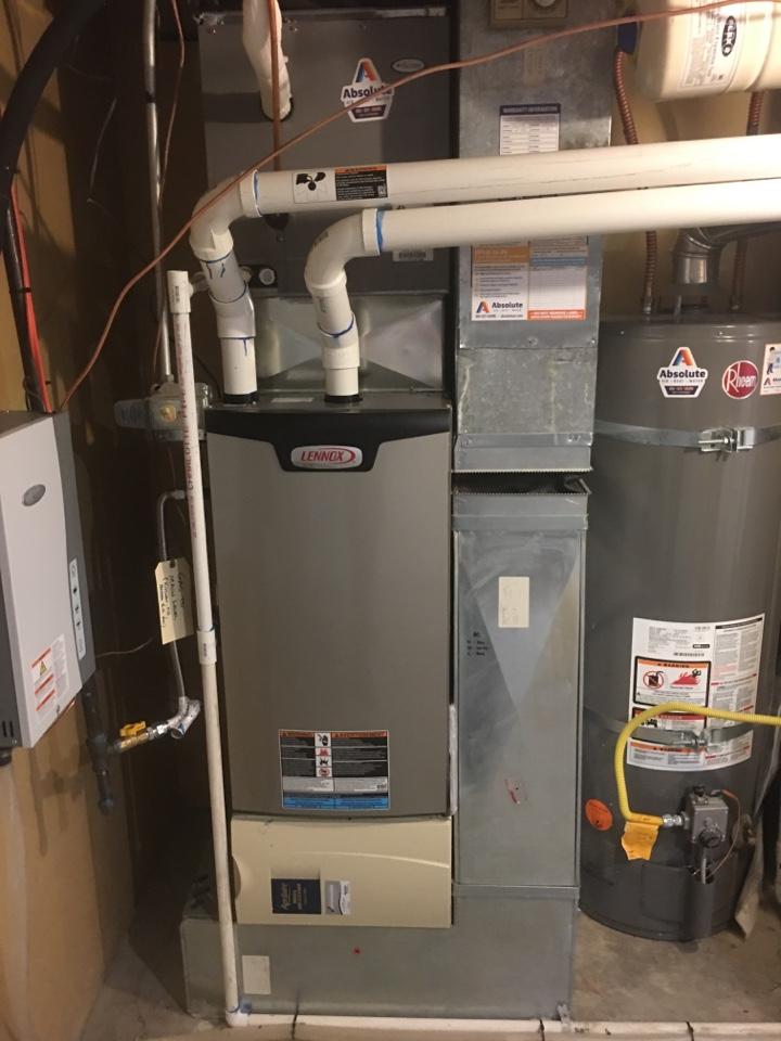 Cottonwood Heights, UT - Install new Lennox high efficiency furnace