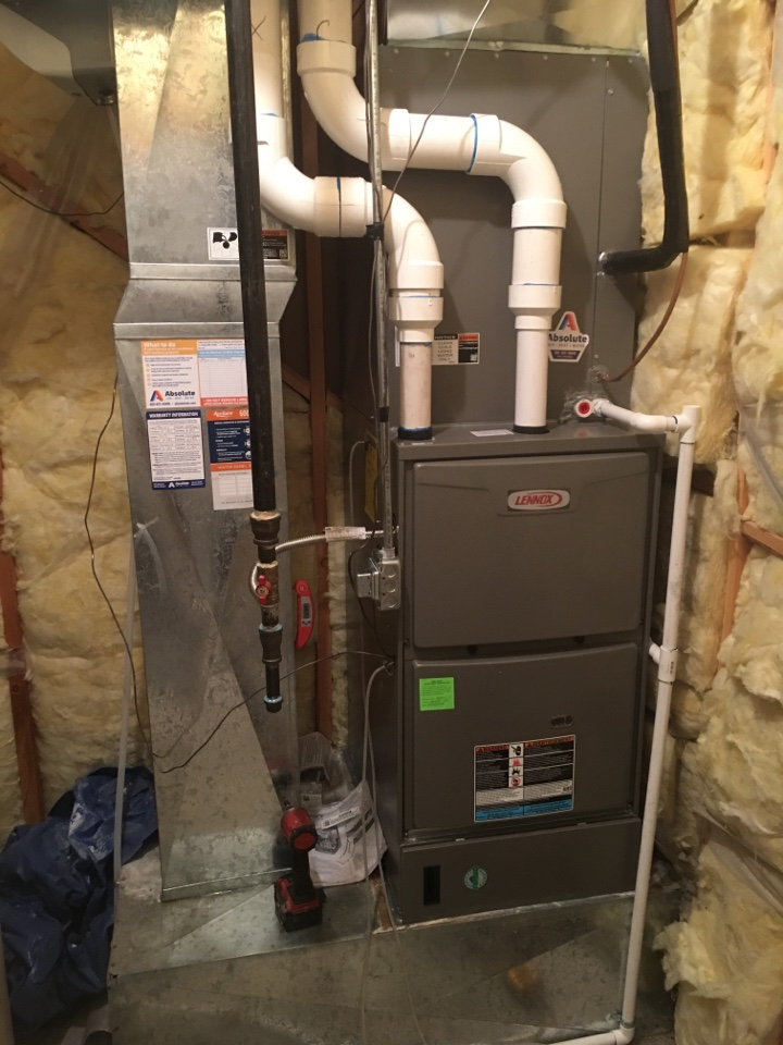 Lindon, UT - New Lennox high efficiency furnace and air conditioner install