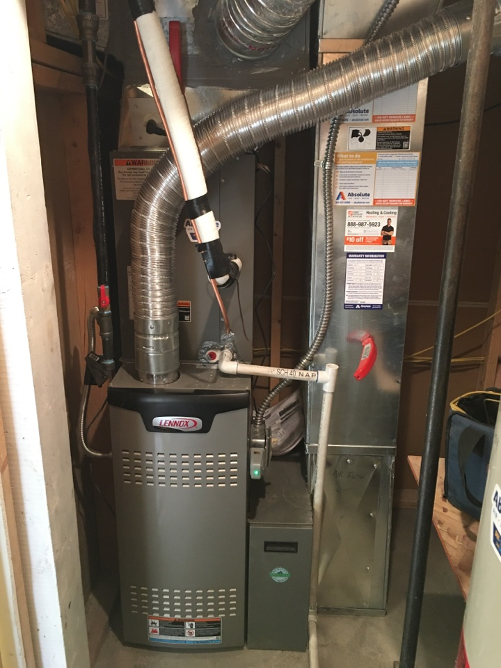 Payson, UT - New Lennox furnace and air conditioner install