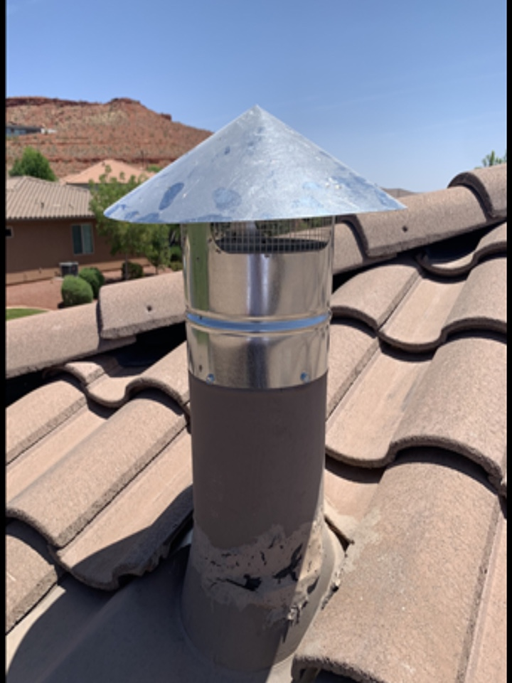 """St. George, UT - Install a new 7"""" Chinese cap"""