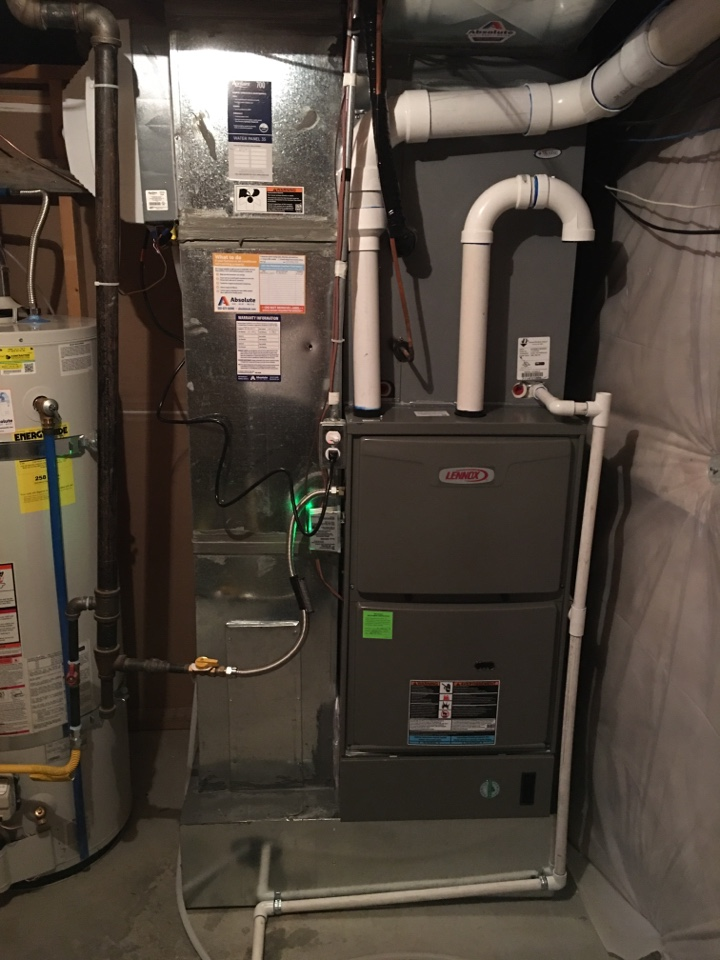 Santaquin, UT - New Lennox high efficiency furnace and Aprilaire humidifier install