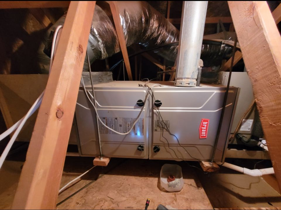 Washington, UT - 90% Bryant furnace in attic not vented properly. Diagnostic.