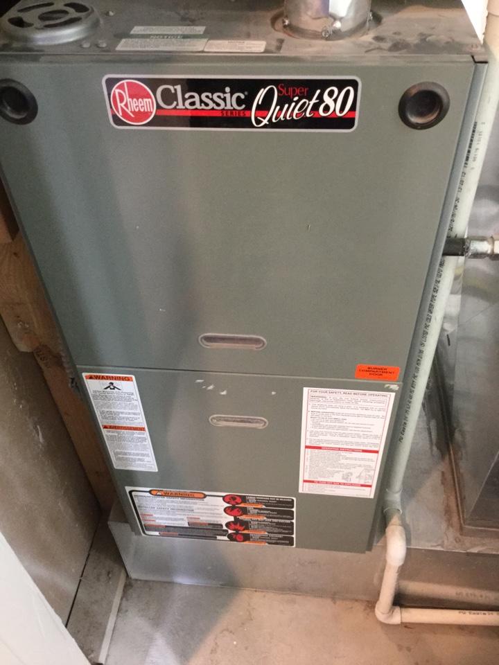 Genola, UT - Tuneup Rheem furnace