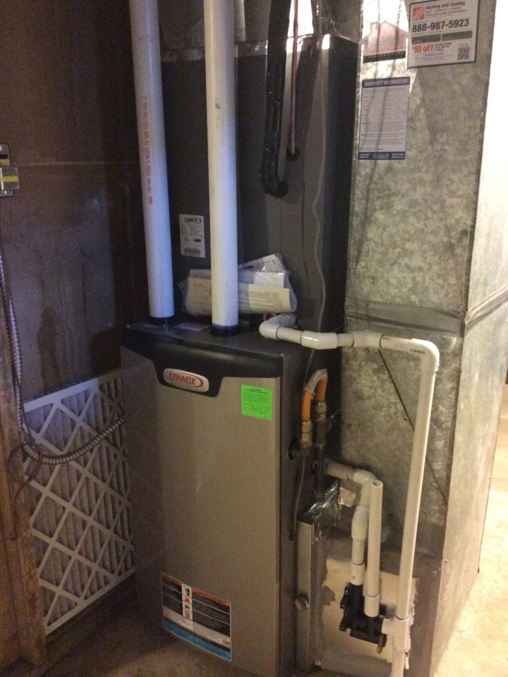 Midvale, UT - Install new Lennox furnace and air conditioner