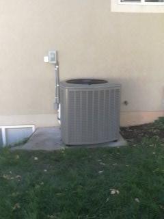 Spanish Fork, UT - Install new Lennox 20 seer air conditioner.