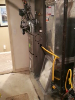 Midvale, UT - Install new Lennox 80% efficient furnace.