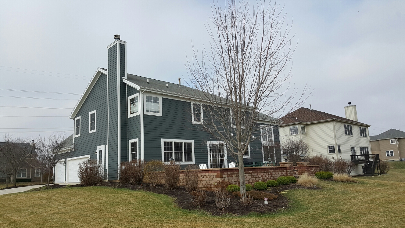 Frankfort, IL - New James Hardie siding and trim.