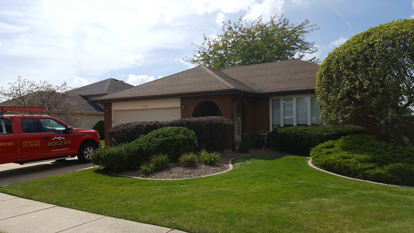 Orland Park, IL - Getting ready to install new aluminum fascia, soffit, seamless gutters and Leaf Relief gutter protection.
