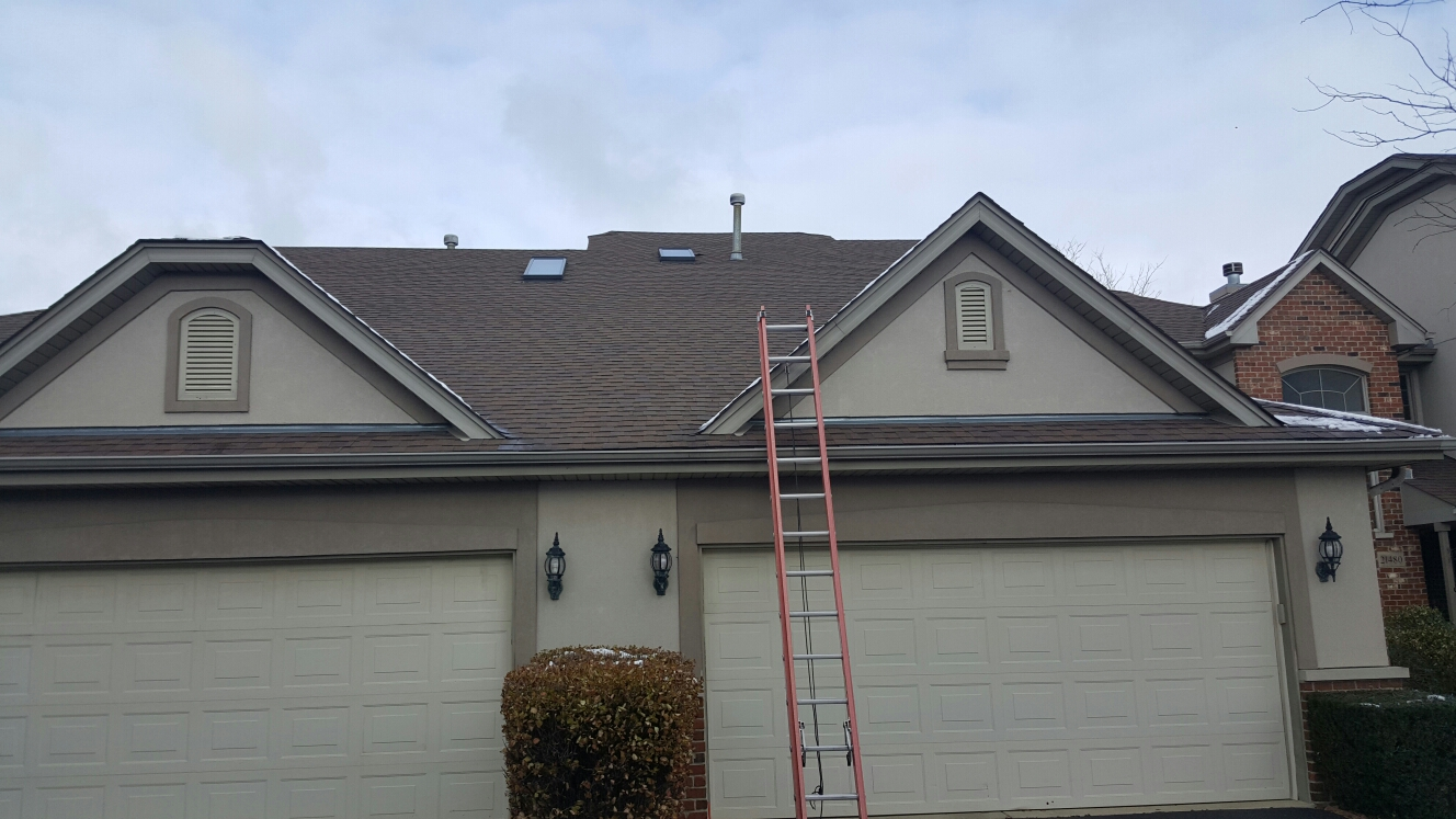 Frankfort, IL - Replacing two old skylights with new Velux skylights and metal flashing kits