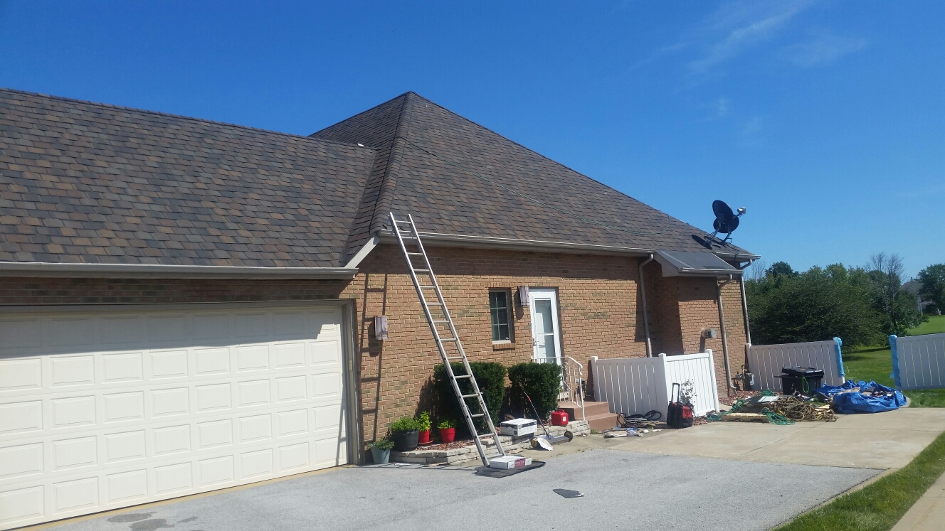 Dyer, IN - Installing new Belmont shingles from CertainTeed.