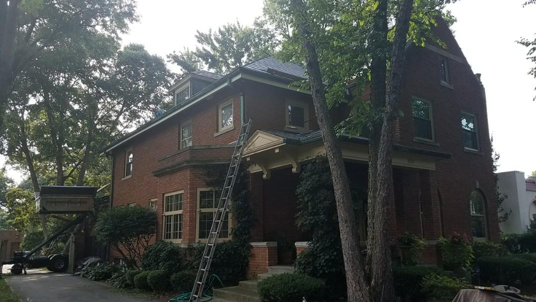 Hammond, IN - Installing a DaVinci tile roof.