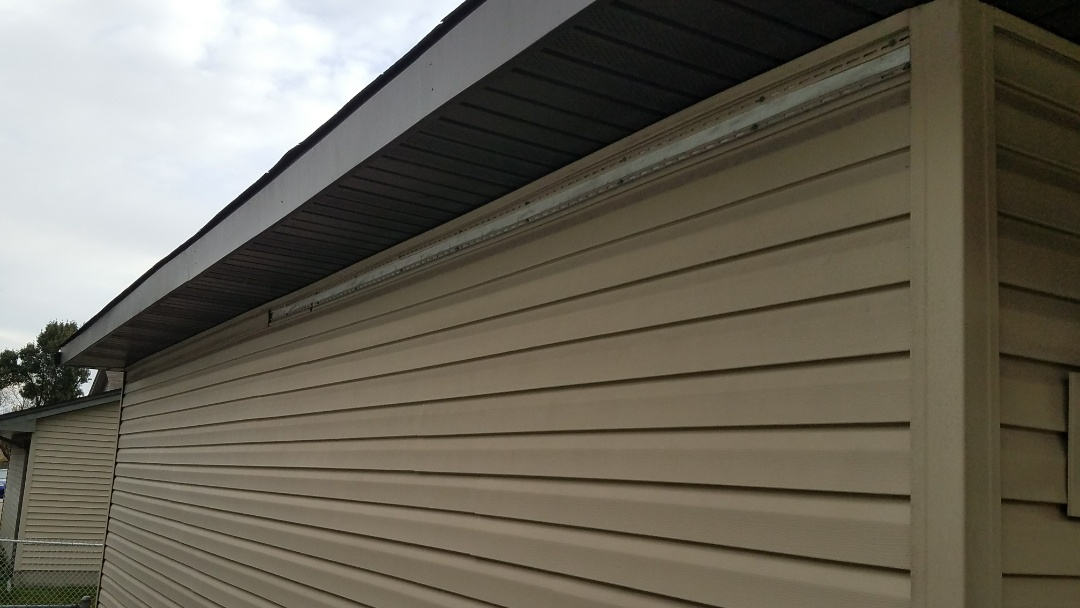 Dyer, IN - Fixing a piece of blown off vinyl siding