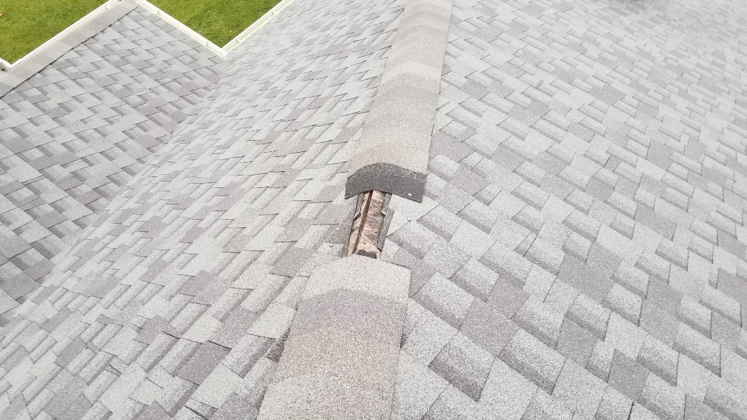 Crown Point, IN - Replacing some missing ridge cap
