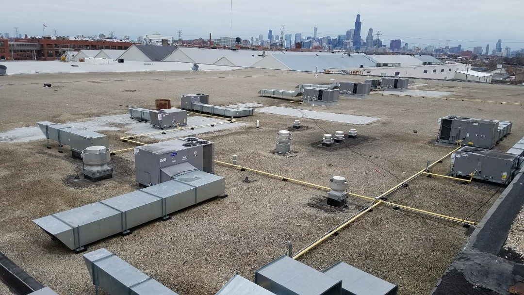 Chicago, IL - Getting ready to install a new CertainTeed flat roof system