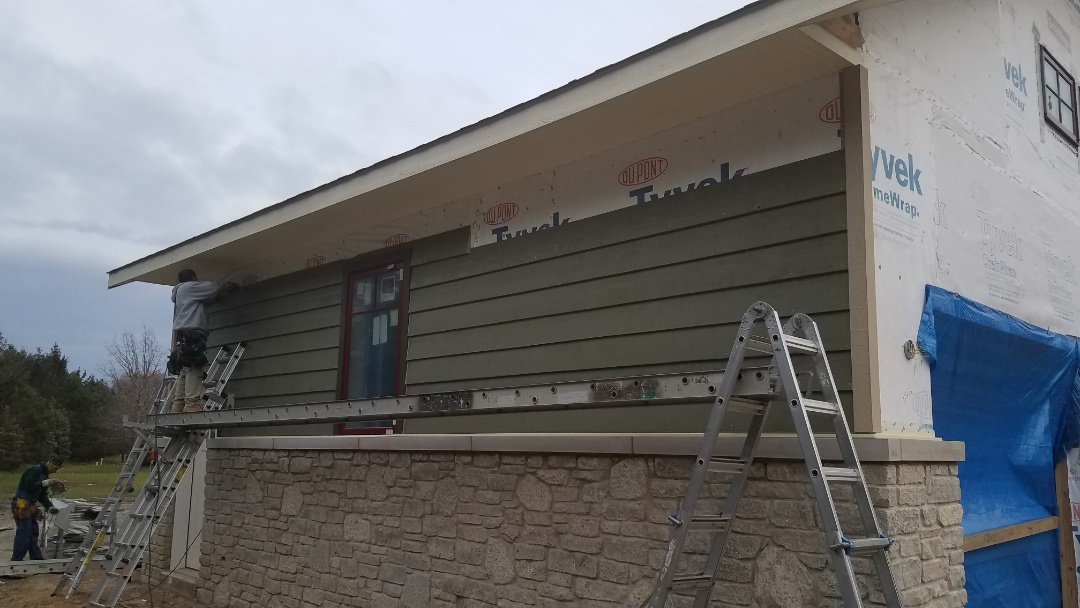 Dyer, IN - Installing some new LP smartside siding