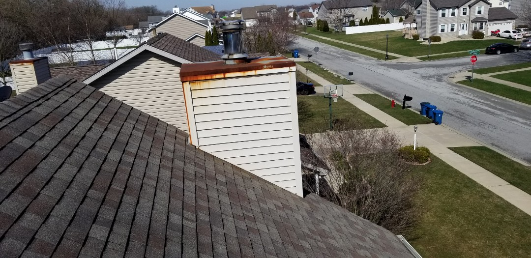 Schererville, IN - Looking at a leaky chimney