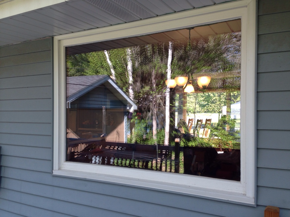 Aurora, MN - Changing picture window to three section sliding window to allow ventilation and improved energy efficiency in Aurora, MN.