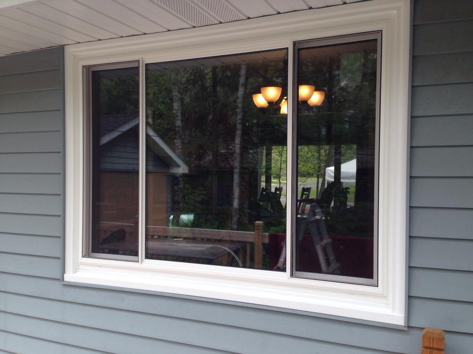 Aurora, MN - After picture of new three section Restorations sliding window in Aurora, MN.