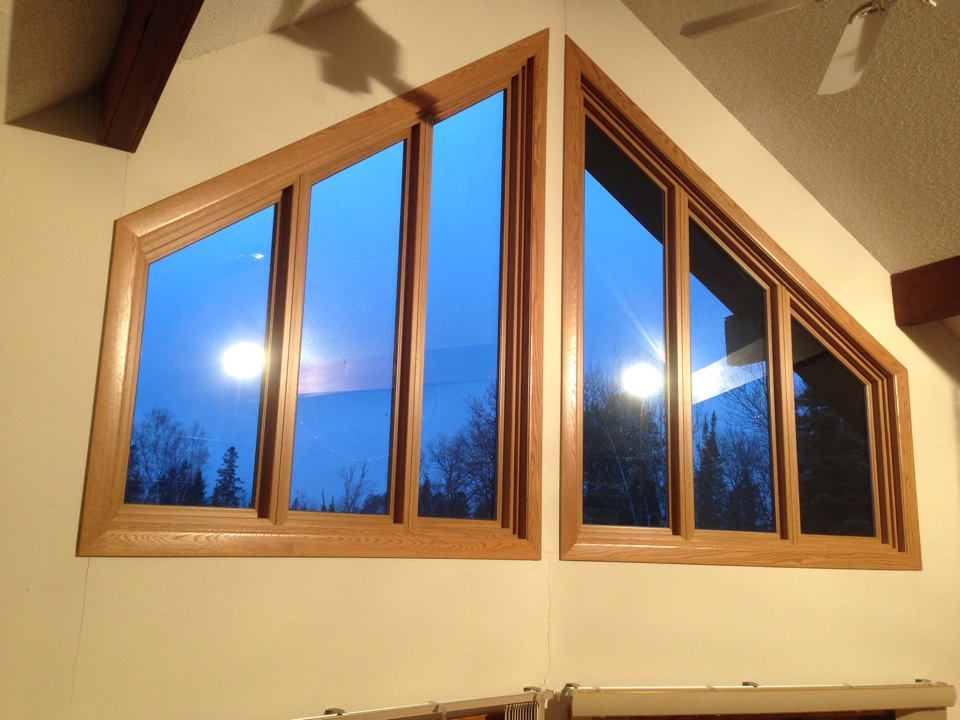 Virginia, MN - Another picture of Restorations trapezoid windows just completed on this residence in rural Virginia, MN.