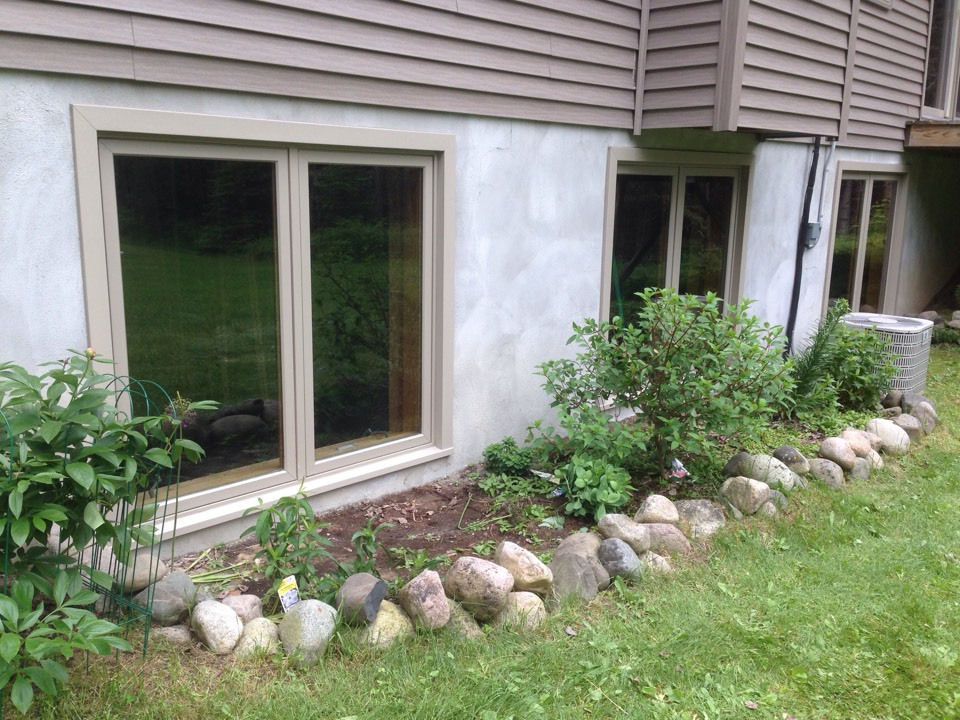 Eveleth, MN - Sandstone window trim on residence south of Eveleth, MN.