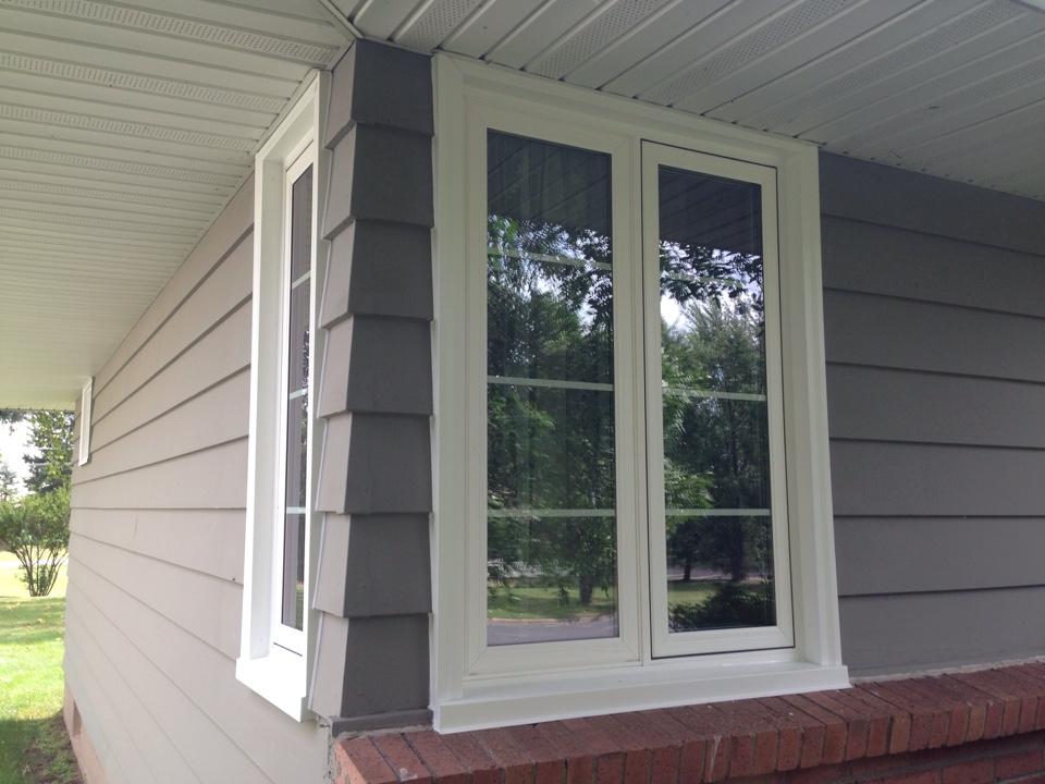 Aurora, MN - Installed 3 Restorations casement windows with grids between the glass in Aurora, MN.