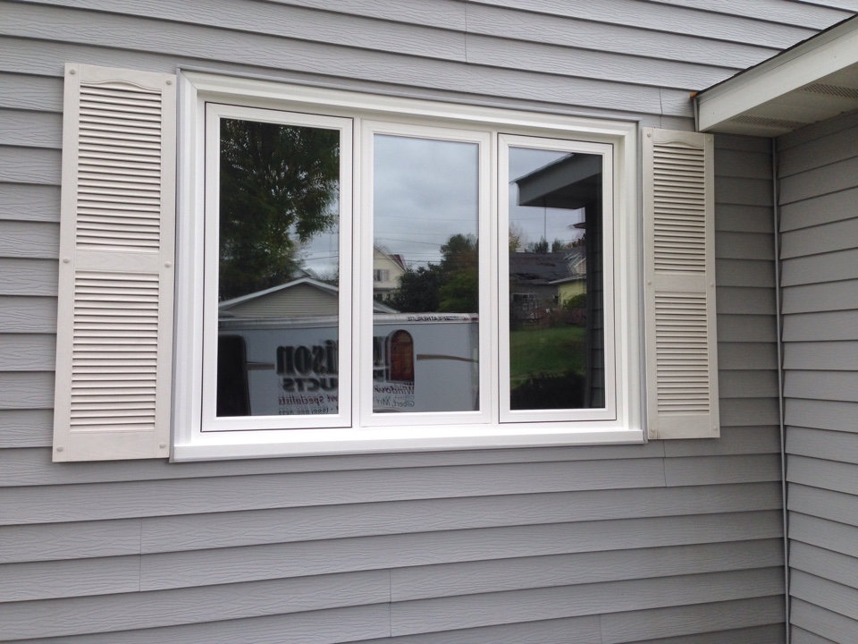 Gilbert, MN - Installed a 3 section Restorations casement window into the existing window frame in Gilbert, MN.