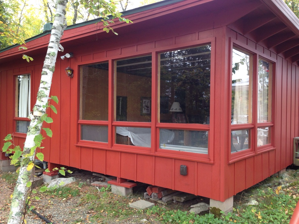 Tower, MN - Removed 2 of these window and installing a Restorations patio door on Lake Vermillion.