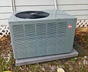 Baton Rouge, LA - Just got done cleaning this  410 Rheem condenser. Looking 10 years younger now.
