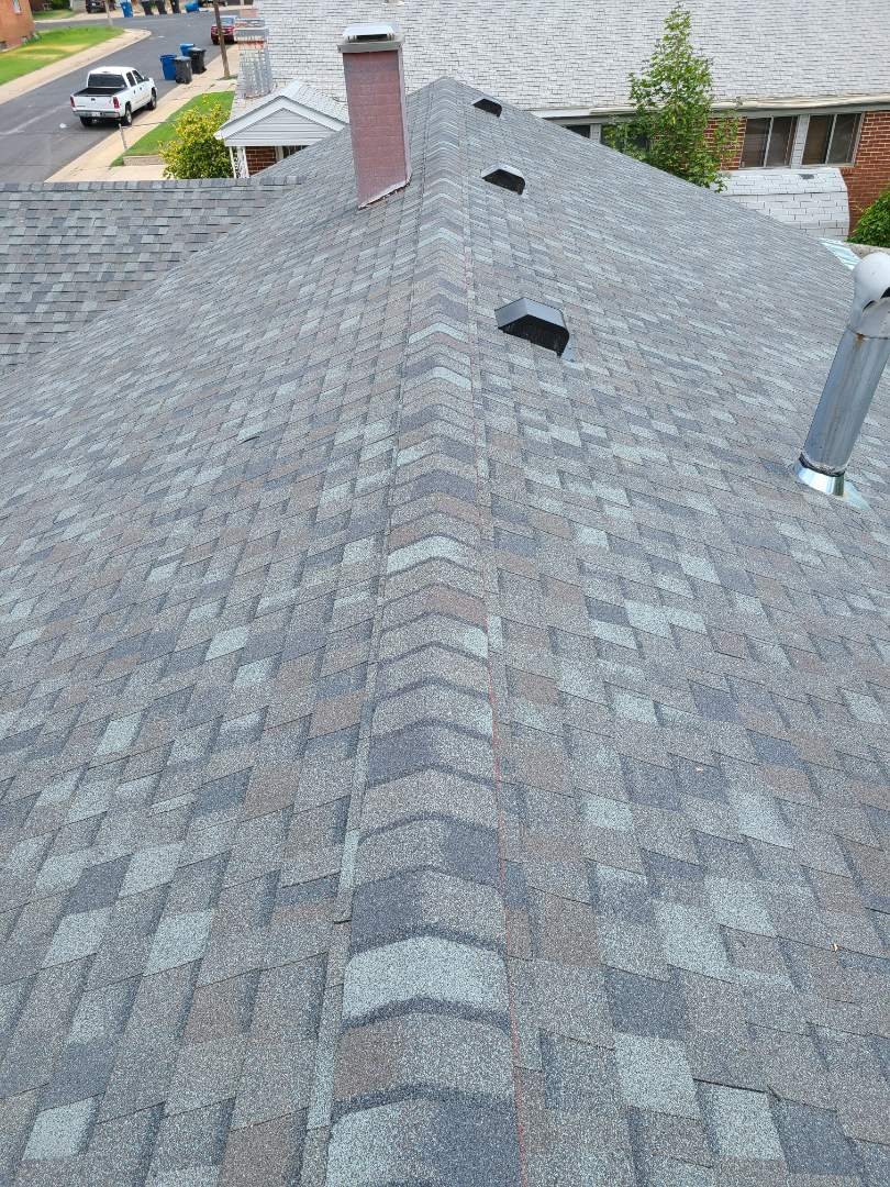 """Ogden, UT - Insurance claim. Full tear off, redeck with 7/16"""" OSB over plank decking. 2 rows of ice and water shield, synthetic felt, Certainteed Landmark Georgetown Grey shingles and ridge, 6 nailed for high winds and cut in turtle vents for attic ventilation."""