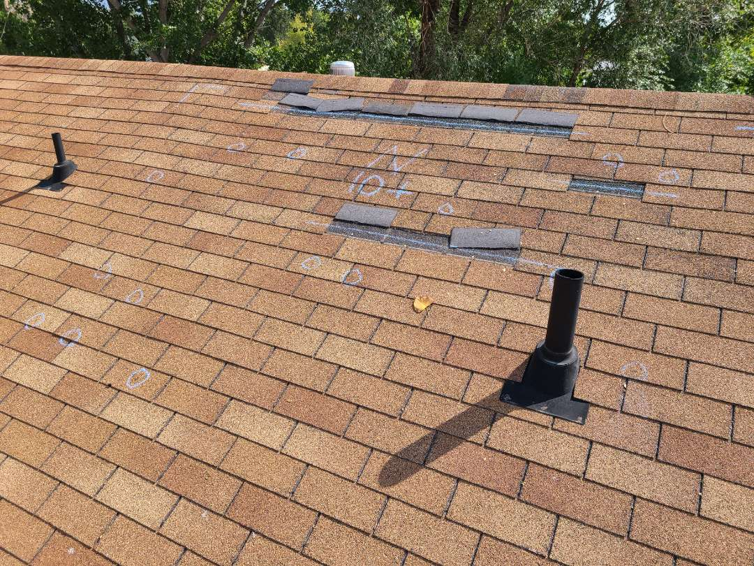 Layton, UT - Free quote for roof repairs. Noticed substantial storm damage. Recommend filing an insurance claim for wind and hail damage.
