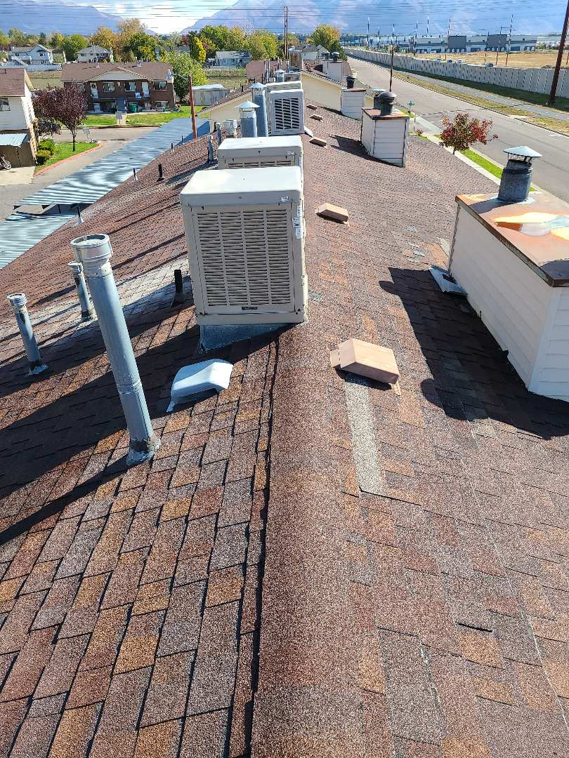 West Point, UT - Free estimate for roof repairs, a full roof replacement and a recommendation to file an insurance claim for wind damage.