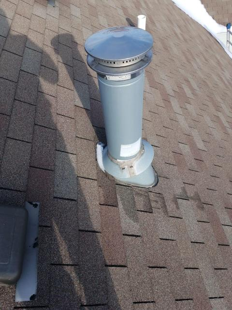 Grayslake, IL - We removed and replaced the existing furnace cap with a new one.