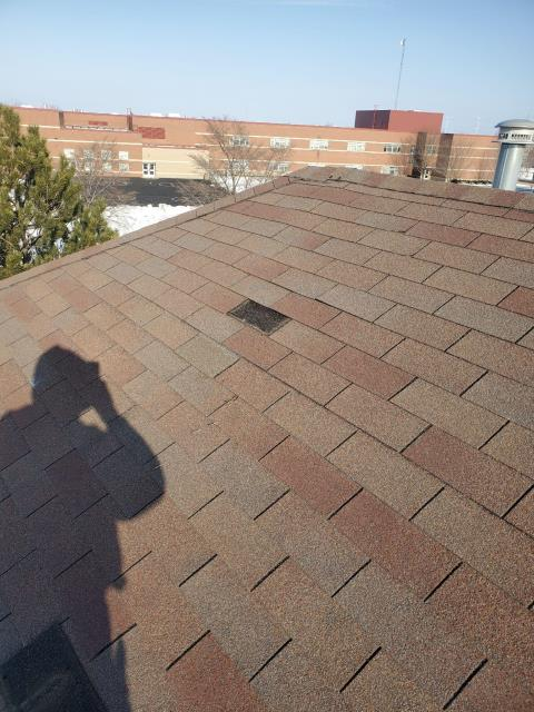 Montgomery, IL - During this roof repair, our installer replaced the missing shingle found on the front of the home.