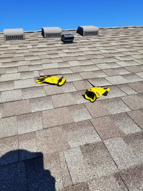 Darien, IL - Our professional service team removed and replaced the existing roof vents located on the rear of the building.
