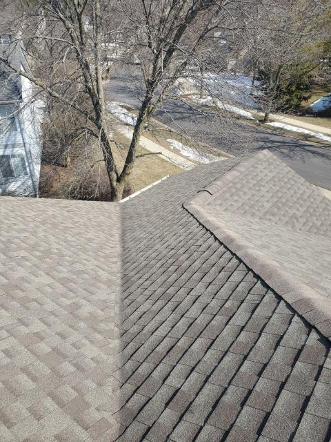 Buffalo Grove, IL - During the roof repair, we removed and replaced the shingles in the valley section.