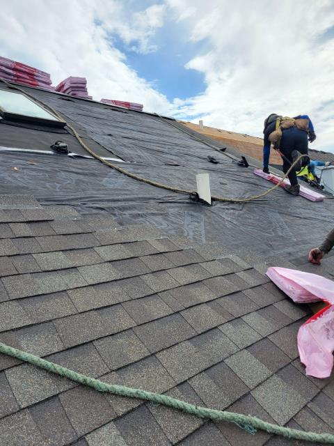 North Aurora, IL - Our professional crews are installing a new Owens Corning total protection roof sytem.