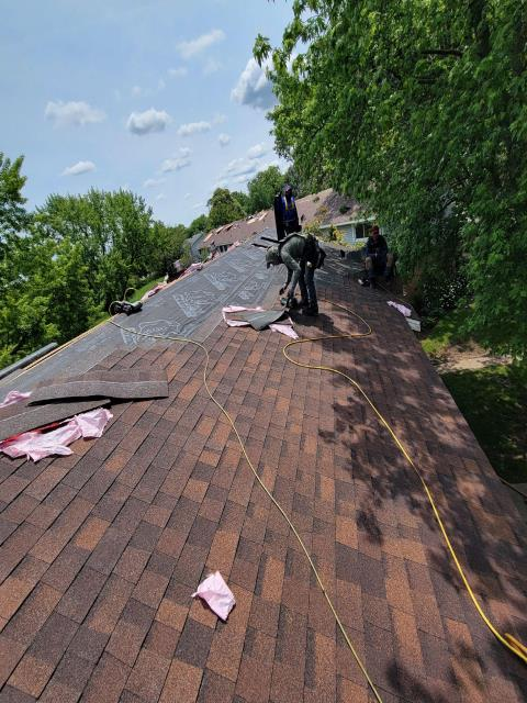 Fox Lake, IL - Our awesome crews are making this roof install look easy.