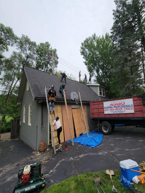 Evanston, IL - Adams Roofing completed this project just before the rain storm.
