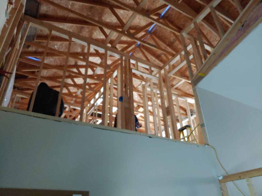 Trevor, WI - Well we opened into new master suite from house and building stairs today
