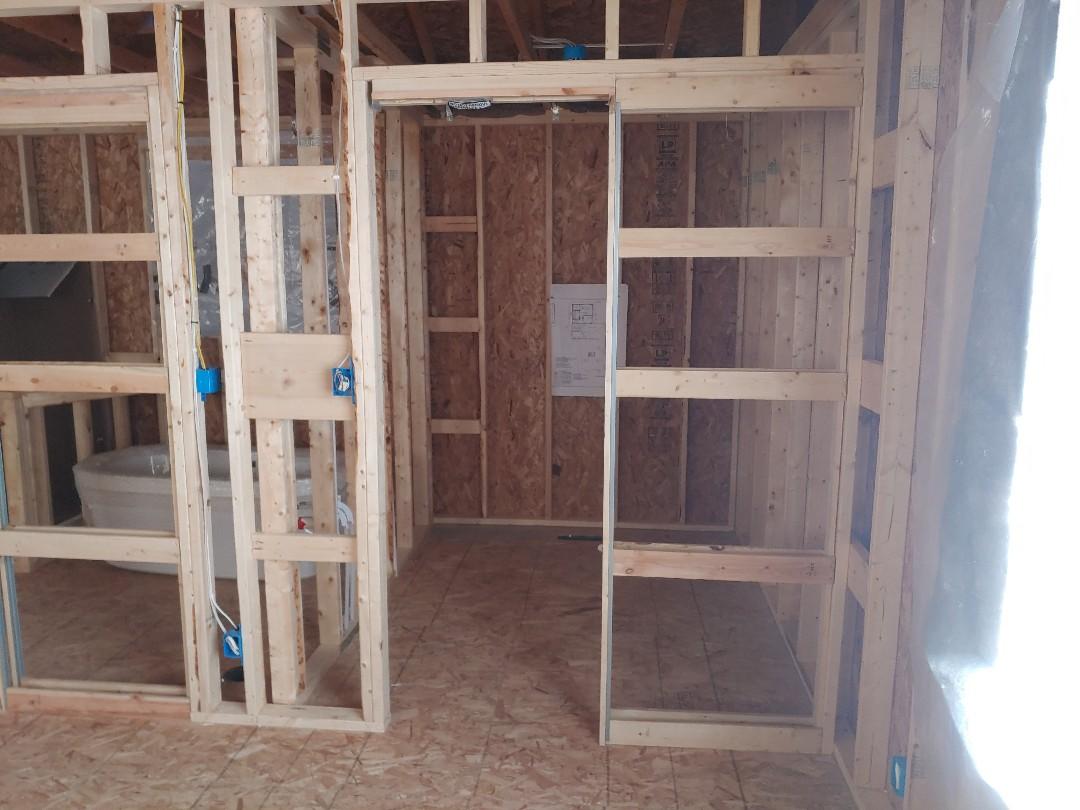 Trevor, WI - Getting ready for Pella windows installation drywall