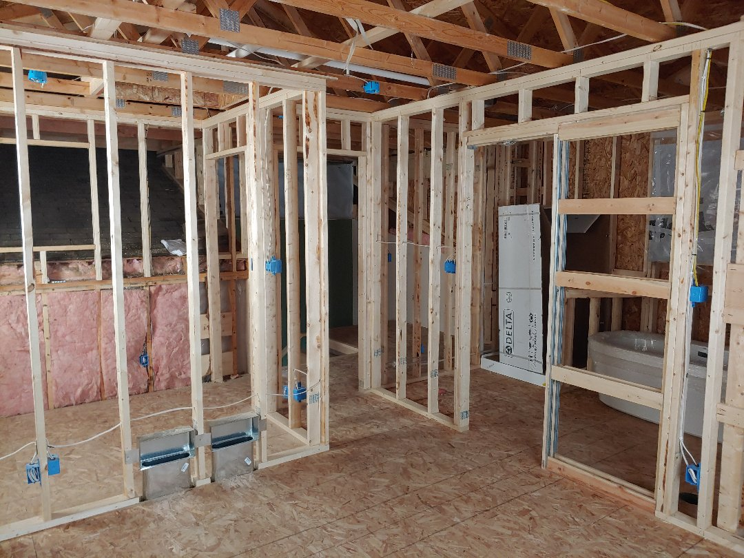 Trevor, WI - Master Suite. Coming along nicely pella windows next