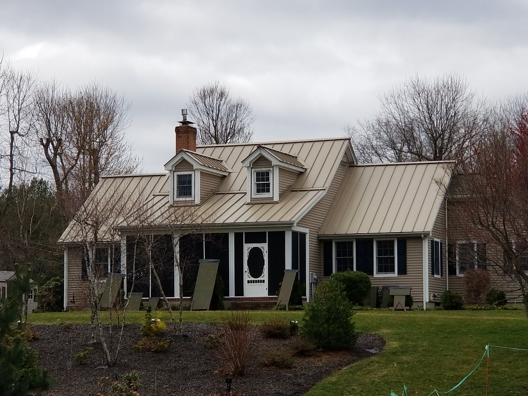 Clinton, MA - Standing seam aluminum metal roofing. There is nothing more environmentally friendly or longer lasting than or energy star metal roofs.