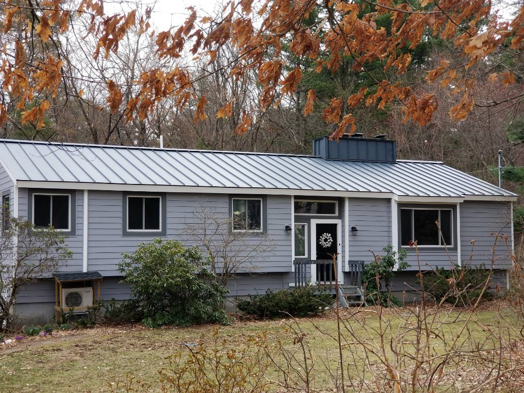 """Stow, MA - Standing seam is a great choice for any home. If your asphalt shingle roof is ready to be replaced why not consider """"the best roof under the sun!"""""""