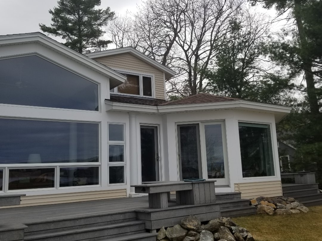 Laconia, NH - Getting ready for a new premium aluminum standing seam metal roof.