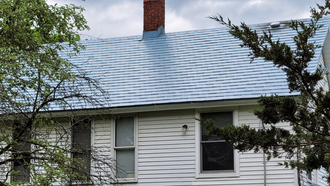 Northampton, MA - Another metal roof with a blue finish in Northampton, Ma