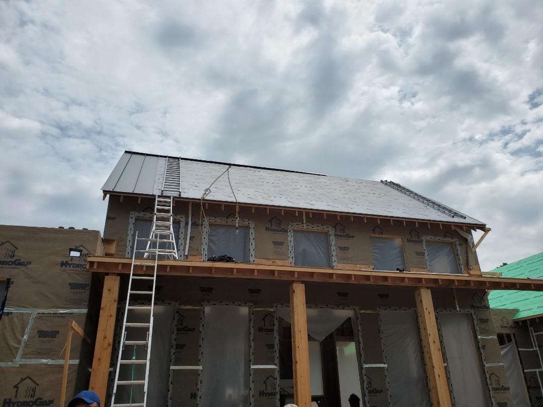 Sherborn, MA - Aluminium metal standing seam panels underway